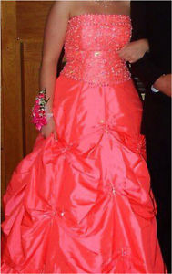 pink prom dress. size