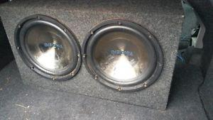 (2) 12'' Subs with  Watt Amp for car