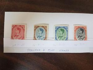 4 Mint Condition Thailand Stamps