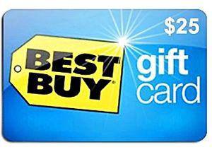 ⭆ BEST BUY $25 FULL VALUE NEW GIFT CARD ✋