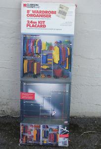 Clairson 8' Closetmaid Wardrobe Organizer kits