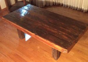Coffee table,rustic reclaimed wood