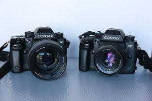 Contax N1 twin bodies and all lenses and Contax flash