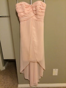 Davids Bridal Light pink high low dress