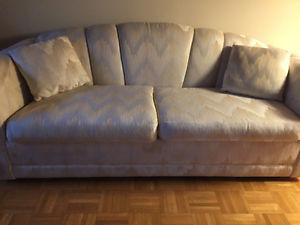 Designer Sofa Bed, Chair, Ottoman, Pillows