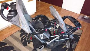 Double stroller sit n stand