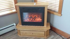 Heat Surge Electric Fire Place - Excellent Condition - Oak.