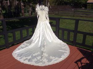 Victorian style wedding dress by Alfred Angelo