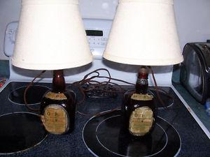 Vintage Bar Lamps Made From Old Parr Whiskey Bottles s