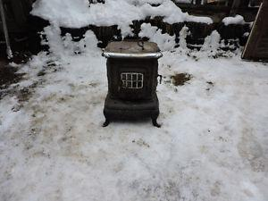 Vintage cast iron wood stove