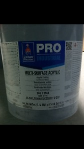 40L Black multi surface acrylic paint (for greasy surfaces)