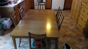Antique Dining Room Set with Hutch