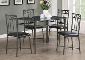 Brand new marble top 5 pc dinette set $298 only+FREE