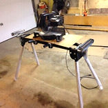 Brand new mitre saw stand and older chop saw