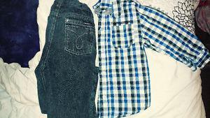 CALVIN KLEIN JEANS &Dress SHIRT SZ.3