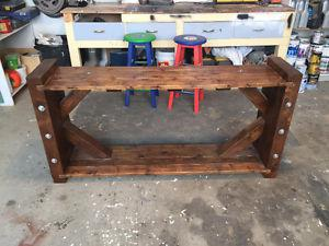 Custom Made Solid Cedar TV Stand