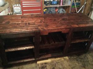 Custom built pallet furniture