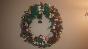 Handmade Christmas wreath ornament