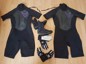 Ladie's Neoprene Wetsuits w/ boots & gloves