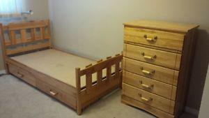 Mates Bed with dresser and desk