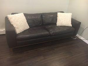 Natuzzi Leather Couch & Chair Set
