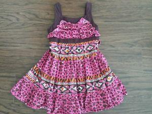Pink/brown/orange spaghetti strap dress - size 3T