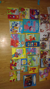 Sesame Street Books and movies and a few other kids movies