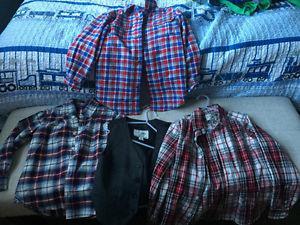 Size 5-6 Dress Shirts/Vest/Sweater