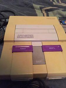 Super Nintendo Console + Games