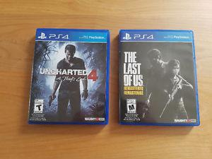 Uncharted 4 / The Last of Us (remastered) - ps4