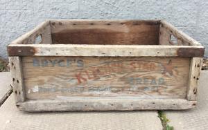 Vintage Wooden Bread Delivery Box