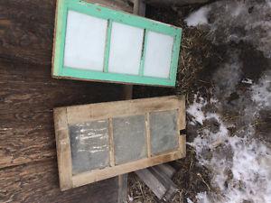 Vintage barn windows