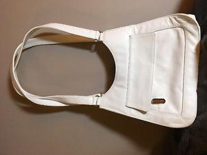White Genuine Leather Handbag