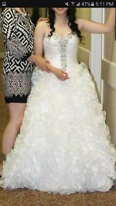 White quincenera grad/wedding dress