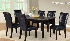 BRAND NEW DINNING TABLE WITH 6 CHAIRS ON SALE SALE