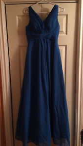 Blue formal dress, size 4