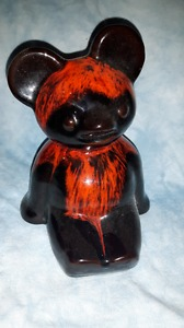 Canadian Red Drop Pottery bank teddy bear