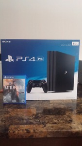 For sale: PlayStation 4 Pro 1TB with Battlefield 1