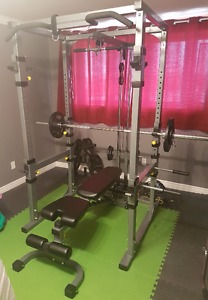 Full Cage - Bench - Weights - Brand New