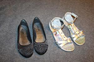 Girls shoes and sandals size 12