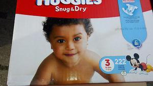 Huggies Diapers - Brand New Unopened Box of 222