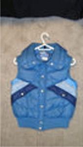 Ladies Blue Down Vest Size 8