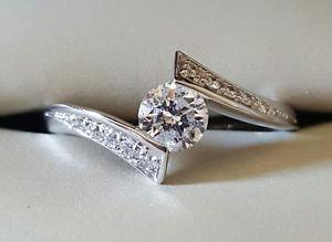 Lady's Canadian Glacier Fire Diamond Engagment Ring