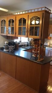 Oak cabinets and counter top