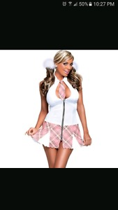 Queen size school girl outfit