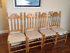 Solid wood New England farm chairs - $100 for four