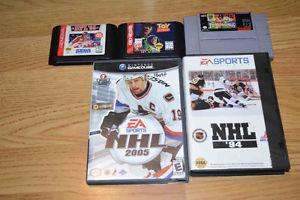 Video games, Sega Genesis, Gamecube, Super Nintendo, Wii