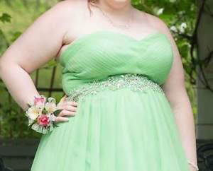 mint green prom dress size 18
