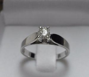 """14k white gold.50ct """"Solitaire"""" Diamond Engagement Ring -"""
