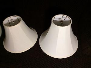 2 Lamp Shades (med. & large) - great quality - only $10